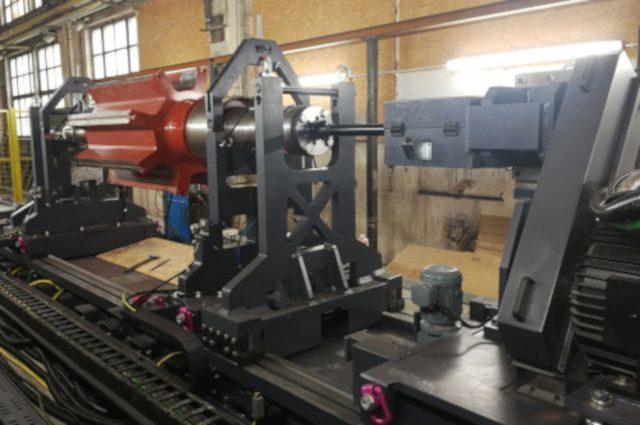 Rotor balancing up to 20 tons